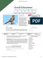 Types of Bird Sounds - Bird Noises