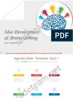 Idea Development and Brainstorming Process PowerPoint Presentation Slides