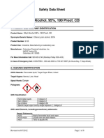 Ethyl Alcohol Safety Data Sheet