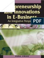 Idea Group,.Entrepreneurship and Innovations in E-business