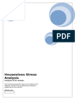 Housewives Stress Analysis