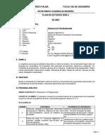 IM0108-Tecnicas de Porgramacion 2015-I SINEACE
