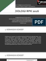 Metodologi RPK 2016