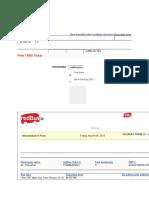 RedBus Bus Tickets Format
