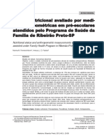 Estado Nutricional de Pré-escolares Em Ribeirão Preto