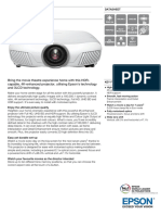 Epson EH-TW7300 4K-Enhanced 3D Home Theatre Projector Datasheet