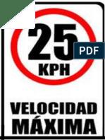 Velocidad 25 Kmh