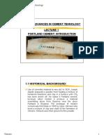 Lecture1 PortlandCement Introduction