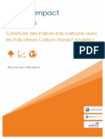 Carbone4 Low Carbon Indices ResumeVF