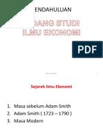 1. Bidang Studi Ilmu Ekonomi