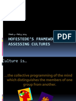 Hofestede Framework