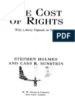 SUSTEIN, C. the Cost of Rights