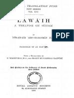 Nur-Ud-Din Abd-Ur-Rahman Jami-Lawa'Ih_ a Treatise on Sufism (1906)-Kessinger Publishing, LLC (2008)