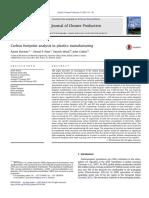 Carbon Footprint Analysis in Plastics Manufacturing