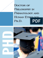 Doctor of Philosophy in Primatology and Human Ethology