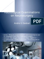 Radiological Examinations on Neurosurgery