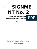 Theories Regarding Movement of Earth's Crust