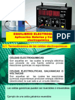 Modulo II - Tema 4 -Equilibrio Electroquímico