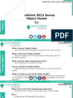 SharePoint 2013 Development - Server Object Model_Introduction Training