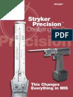 Stryker Precision Oscillating Tip Saw MTX9100001044