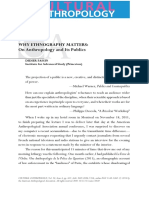 Fassin Didier - Why Ethnography Matters - On Anthropology and Its Publics