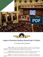 Presentation Folder Gala LSRS January 5th 2017 Bucharest