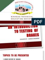 Testing of Brakes