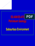 Petroleum Geology- Subsurface Environment