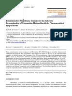 02 Potentiometric Membrane Sensors for the Selective