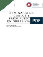Seminario de Costos y Presupuestos en Obras Viales
