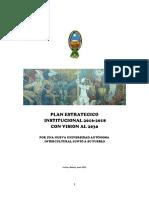 PLAN ESTRATÉGICO INSTITUCIONAL UMSA 2016 - 2018