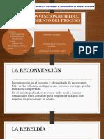 Procesal Civil 1 la reconvención, rebeldía saneamiento y conciliacion