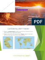 Continental Drift Theory With Evidences