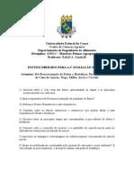 Estudo Dirigido MPA - 2016.2