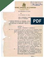 Cria e Reestrutura a Procuradoria Do Municipio de Itaberaba