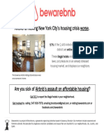 Bewarebnb Flyer