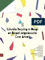 Kulturelles Recycling im Design am Beispiel zeitgenössischer Cover Artwork