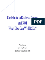 Contributing to Business Success and ROI- Vincent Leung