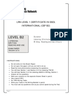 LRN Level B2 January 2016 Exam Paper