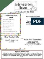 Newsletter Oct. 17th.