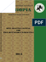 Ethiopia - Best Practice Manual for Thin Bituminous Surfacings 2013