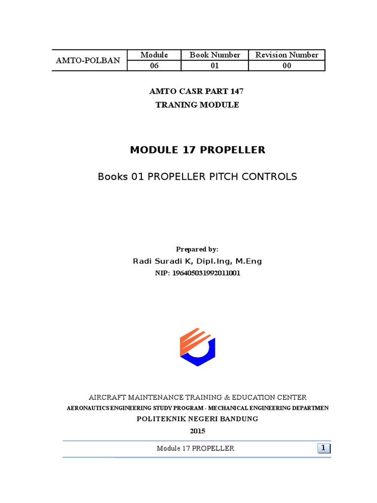 Module 17 3 Propeller Pitch Control   Propeller   Engines