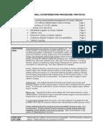 Urinary Catheterization Procedure Protocol