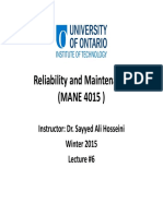 06 Reliability and Maintenance Lecture #6