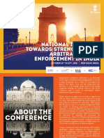 National Initiative Towards Strengthening Arbitration and Enforcement in India