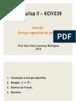 Aula 08 - Energia Específica de Canais