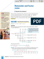 The Remainder and Factor Theorem