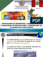 1. Dr. Ing. PEDRO VALLEJO VALLEJO Produc de Sedimentos Cuenca Lago POOPO