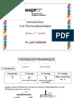 Cours Thermodynamique Esprit 1Année