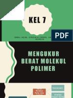 Cara Menghitung Berat Molekul Polimer